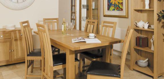 Denver oak living dining room furniture - Dining room furniture denver ...