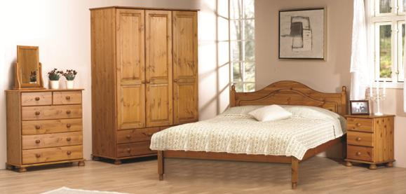 Pine furniture bedroom solid wooden