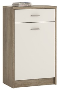 4You 1 Drawer 1 Door Cupboard in Canyon Grey / Pearl White
