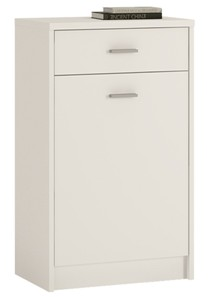 4You 1 Drawer 1 Door Cupboard in Pearl White