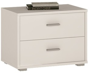 4You 2 Drawer low chest / bedside in Pearl White