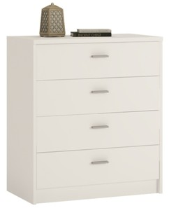 4You 4 Drawer Chest in Pearl White