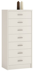 4You 7 Drawer narrow chest in Pearl White