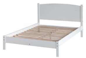 Aviemore 4`6 Double Bed - Warm White