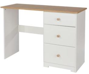 Aviemore Oak Top Single Dressing Table - Warm White