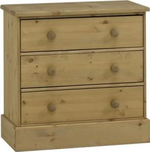 Balmoral Waxed 3 drawer chest