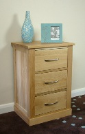 Mobel oak 3 drawer lamp table