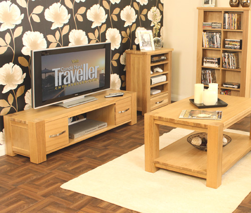 Aston Oak Widescreen Television Cabinet Aston Oak Living Dining