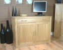 Mobel Oak hidden home office desk.