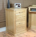 Mobel Oak home office 2 drawer filing cabinet.