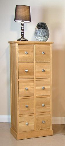 Mobel Oak Cd Multi Storage Chest Of Drawers Mobel Oak Living Dining Room Furniture