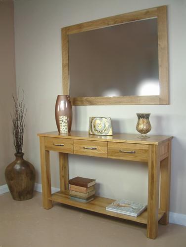 mobel oak console table
