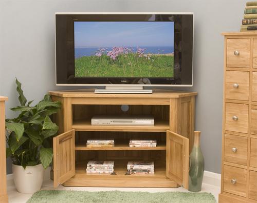 Mobel oak corner tv cabinet mobel oak living dining room furniture - Mobel for living ...