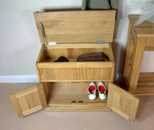 Mobel Oak Shoe Bench With Hidden Storage Mobel Oak Living