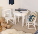 Nutkin Childrens Play Table with 2 chairs