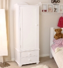 Nutkin Childrens Single Wardrobe With Drawers