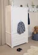 Nutkin Childrens Double Wardrobe With Drawers