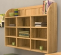 Mobel oak reversible wall rack crafted