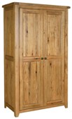 Chateau rustic oak double full hanging wardrobe