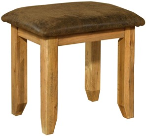 Chateau rustic oak dressing table stool.