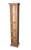 Classic oak single dvd unit