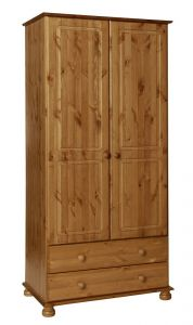 Copenhagen Pine 2 door 2 drawer Wardrobe