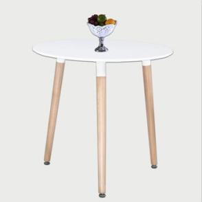 Aspen Round White Painted 80cm Table Top With Beech Leg