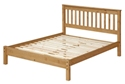 Corona Double Slatted Bed with Low Foot End.