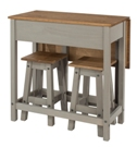 Corona Grey Breakfast Drop Leaf Table Set