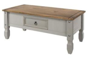 Corona Grey Washed 1 Drawer Coffee Table