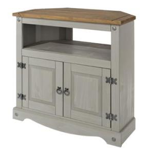 Corona Grey Washed Corner TV Unit
