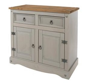 Corona Grey Washed Small Sideboard