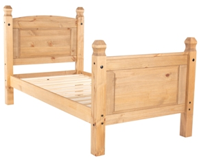 Corona Single Bed with High Foot End.