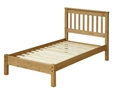 Corona Single Slatted Bed with Low Foot End.