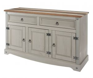 Corona Vintage Grey Washed  Medium Sideboard