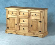 Corona large 2 door 5 drawer sideboard