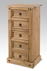 Corona 5 drawer narrow chest (Clearance)