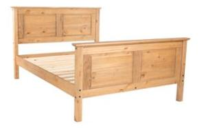Cotswold Double Bed with High Foot End.