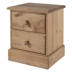Cotswold Waxed 2 drawer bedside