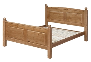 Edwardian Pine 4`6 Double Bed