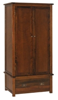 Lincoln 2 door 1 drawer wardrobe