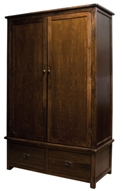 Lincoln 2 door 2 drawer wide wardrobe