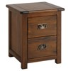 Lincoln 2 drawer bedside cabinet