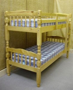 "Pine 2`6"" Small Bunk Bed"