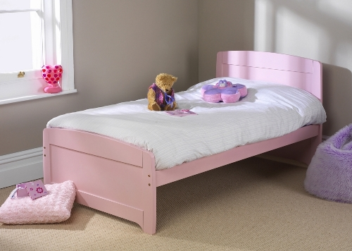 Childrens 3ft Rainbow Bed Pink