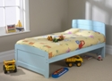Childrens 3ft Rainbow Bed Blue