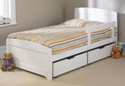 Childrens 3ft Rainbow Bed White