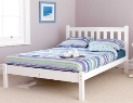 Shaker Bed. White Finish.