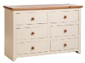 Jamestown 3+3 Drawer Wide Chest