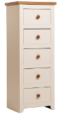 Jamestown 5 Drawer Narrow Chest